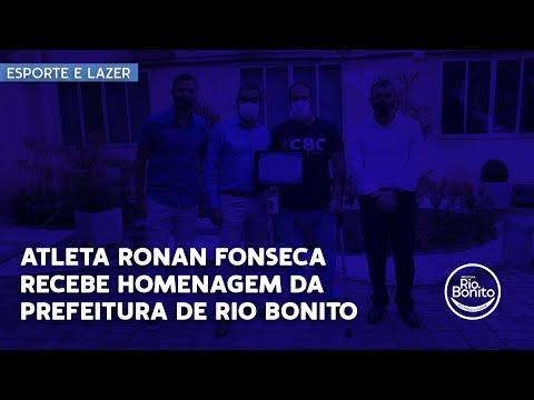 ATLETA RONAN FONSECA RECEBE HOMENAGEM DA PREFEITURA DE RIO BONITO