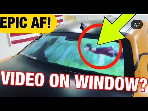 Car Window Movie Screen Conversion - Boruto Anime Fight Projected Dodge Window