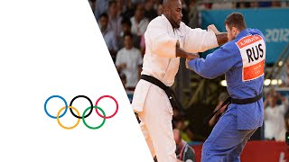 Teddy Riner Wins Men's Judo +100 kg Gold - London 2012 Olympics(Check out the brandnew Olympic Channel: http://go.olympic.org/watch?p=yt Full Highlights as Teddy Riner (FRA) wins the men's judo +100 kg gold medal ..., 2012-08-03T16:37:56.000Z)