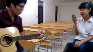 [Guitar cover] - Ngại ngùng (Hương Tràm) - Tiểu tử đấn