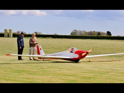 RARE GIANT 66% SCALE RC SCHEIBE SF 33 MOTOR GLIDER - IAN TURNEY WHITE - LMA EAST KIRKBY - 2016