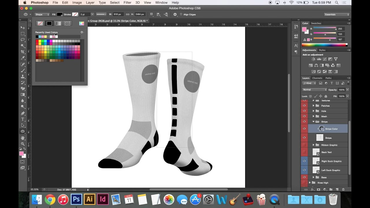 Customizable Sock Template Demo | http://www impaul co