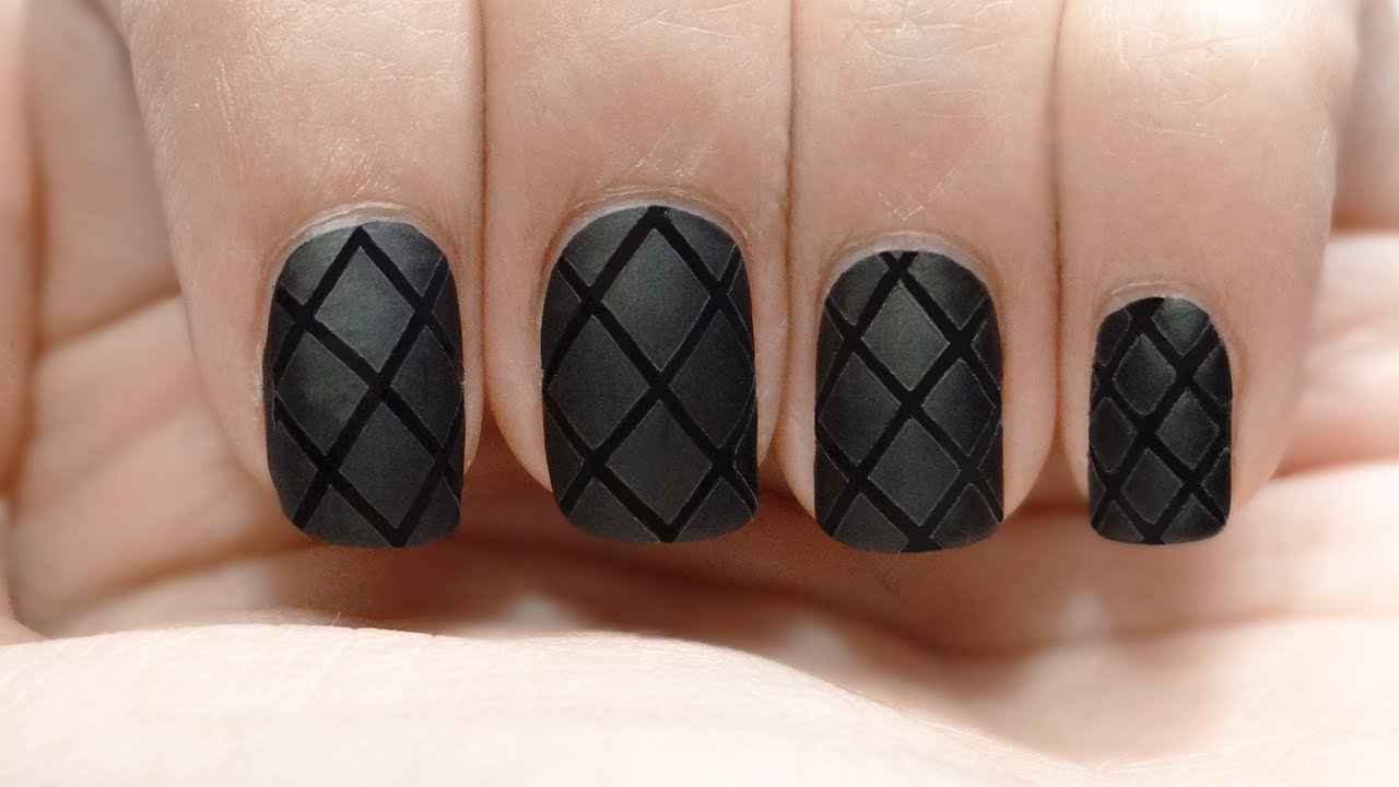 Uñas acolchadas red net quilted nails - YouTube