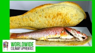 Baked Snapper In Salt Crust - Whole Fish Baked In A Salt Crust
