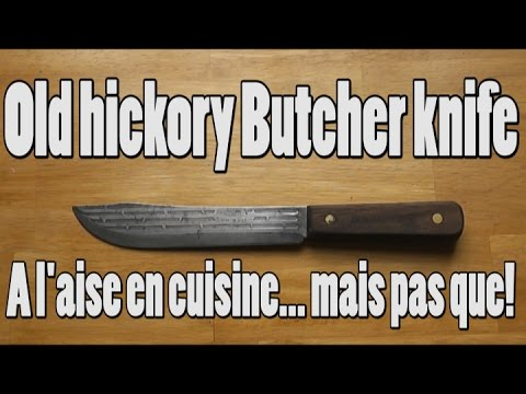 (fr) COUTEAU ONTARIO OLD HICKORY butcher knife 7': à l'aise en cuisine, mais pas que!