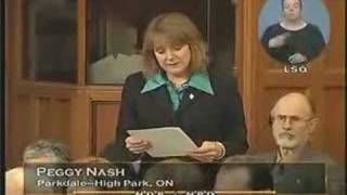 NPD: Peggy Nash sur RADARSAT