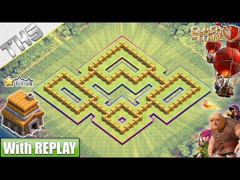 NEW TH5 Base (Farming) 2019 With REPLAYS!! BEST TH5 Hybrid Base - Clash Of Clans