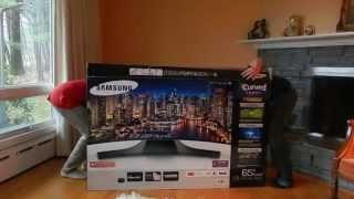 Samsung 65 inch FHD Curved Smart TV  (Unboxing and Setup)