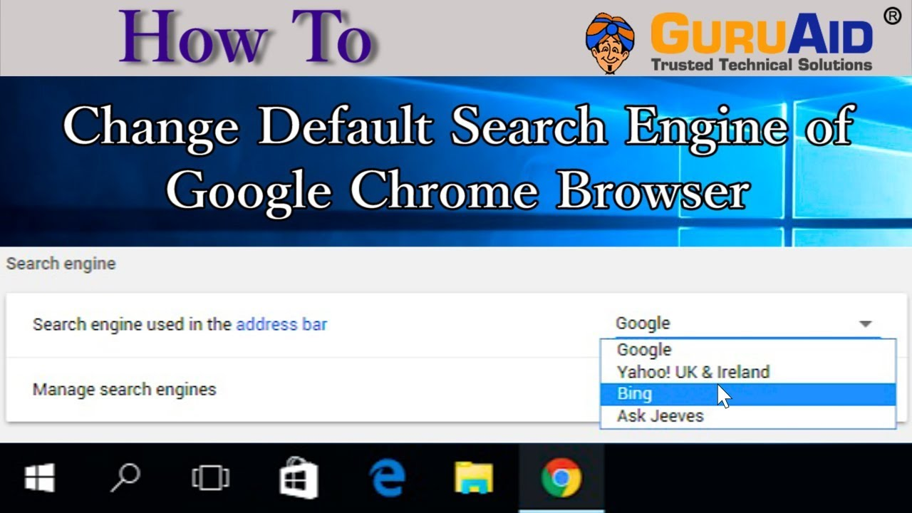 How To Change Default Search Engine In Google Chrome