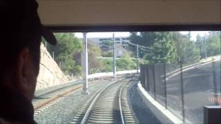 San Diego MTS Trolley Siemens S70 Custom Green Line Ride from 70th Street to Grantville