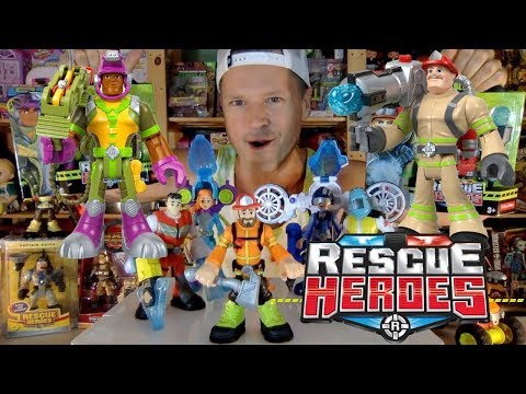 Fisher Price Rescue Heroes Figure Collection: Billy Blazes & Rocky Canyon Unboxing Review