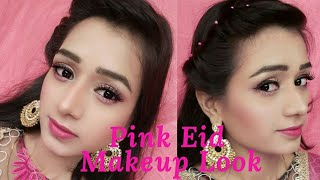 Eid Pink Makeup Look || Jazz Beauty World
