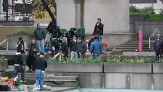 V 2009 : préparation au tournage d'un épisode