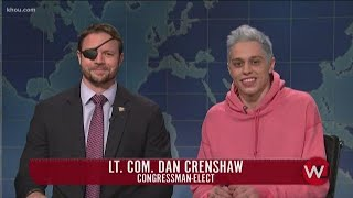 Dan Crenshaw accepts Pete Davidson's apology during surprise 'SNL' visit