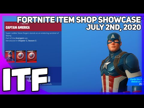 Fortnite Item Shop *NEW* CAPTAIN AMERICA SKIN! [July 2nd, 2020] (Fortnite Battle Royale)