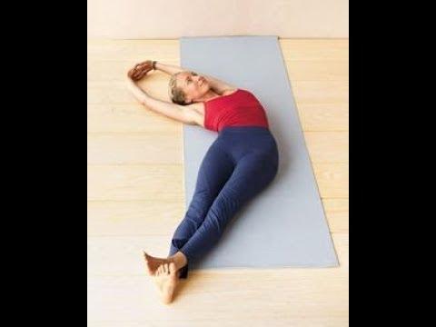 yoga for good posture banana pose  stretch your lats
