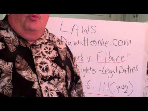 Dawalt lectures Law Wickard v Filburn 317 US 111 (1942) Safety & welfare v Freedom