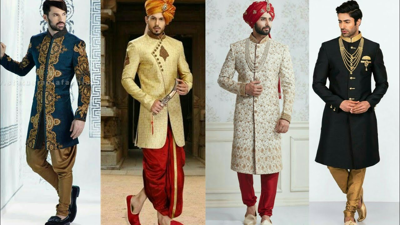 Latest Indian Traditional Wedding Dresses For Men 2017