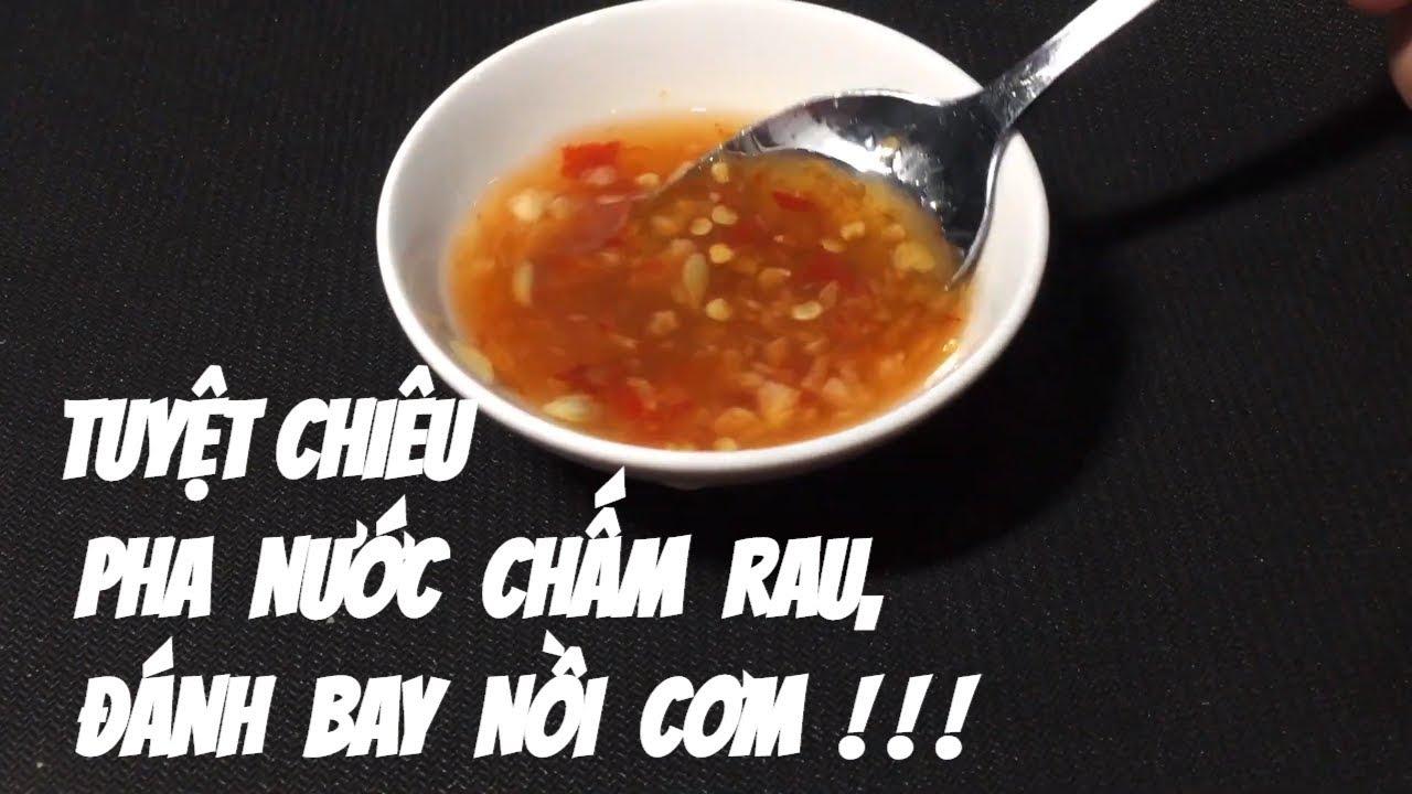 Chef Binh hướng dẫn Cách pha nước chấm chua ngọt ngon nhất !