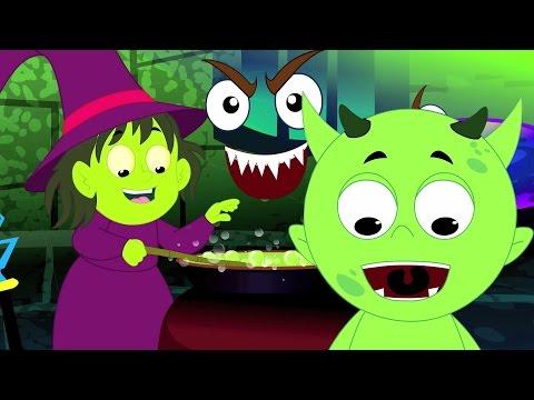 streghe zuppa canzone | Halloween canzone | Filastrocca | pauroso canzone per bambini | Witches Soup