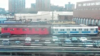 [MTA]: SPECIAL | R40M / R30 Subway Cars Sitting @ Coney Island Overhaul Shop