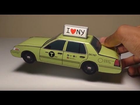 2017 Crown Victoria >> JCARWIL PAPERCRAFT 2011 Ford Crown Victoria NYC Boro Taxi ...