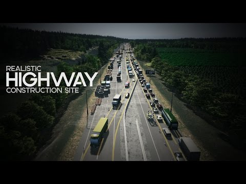 Cities: Skylines | Realistic Highway Construction Site