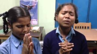 two girls 10 and 11 from sex worker village