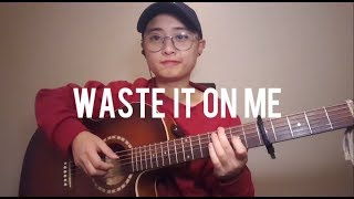Steve Aoki ft. BTS - Waste It On Me Fingerstyle Guitar Cover w/Chords