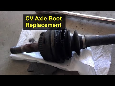 How to replace the boots on a CV axle, rebuild - VOTD