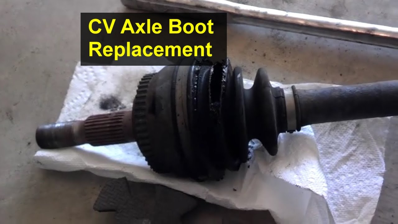 how to replace the boots on a cv axle  rebuild - votd