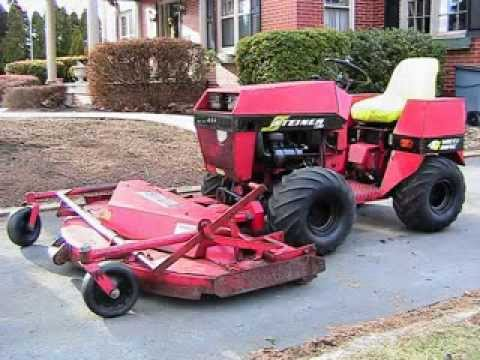 steiner 420 tractor with mower 4wd diesel youtube. Black Bedroom Furniture Sets. Home Design Ideas