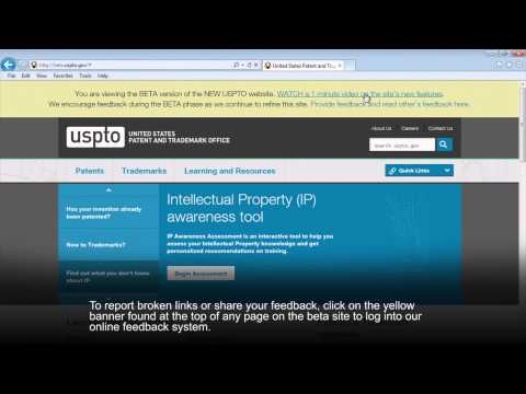 USPTO Website Beta
