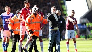 Aston Villa Captain Jack Grealish Struck By Pitch Invader