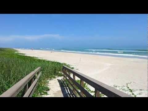 Florida, Merritt Island near Cap Canaveral, beautiful beach in the world, nature and wildlife.