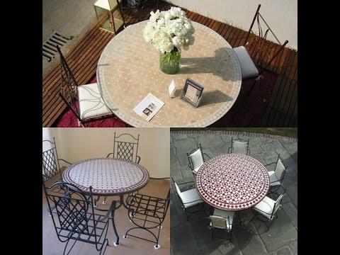 acheter la table marocain en zellige prix pas cher 2017 youtube. Black Bedroom Furniture Sets. Home Design Ideas