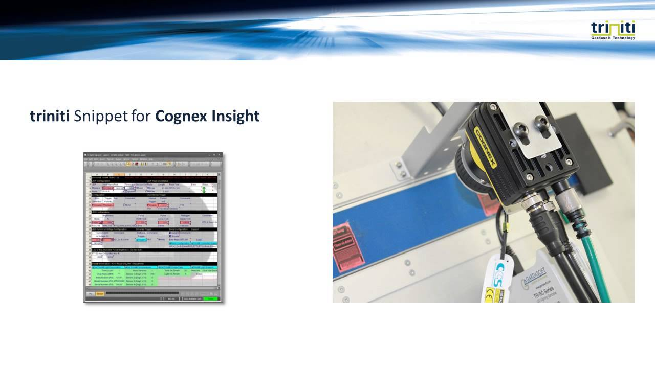 CCS Intelligent Lighting examples with Cognex Insight and VisionPro