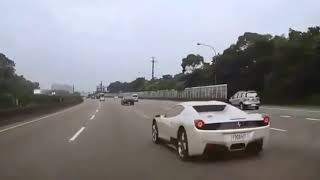 Sports and luxurious cars accident crash completion