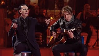 Download Marilyn Manson and Tyler Bates performing Sweet Dreams (Acoustic) live on italian TV show MUSIC Mp3 and Videos