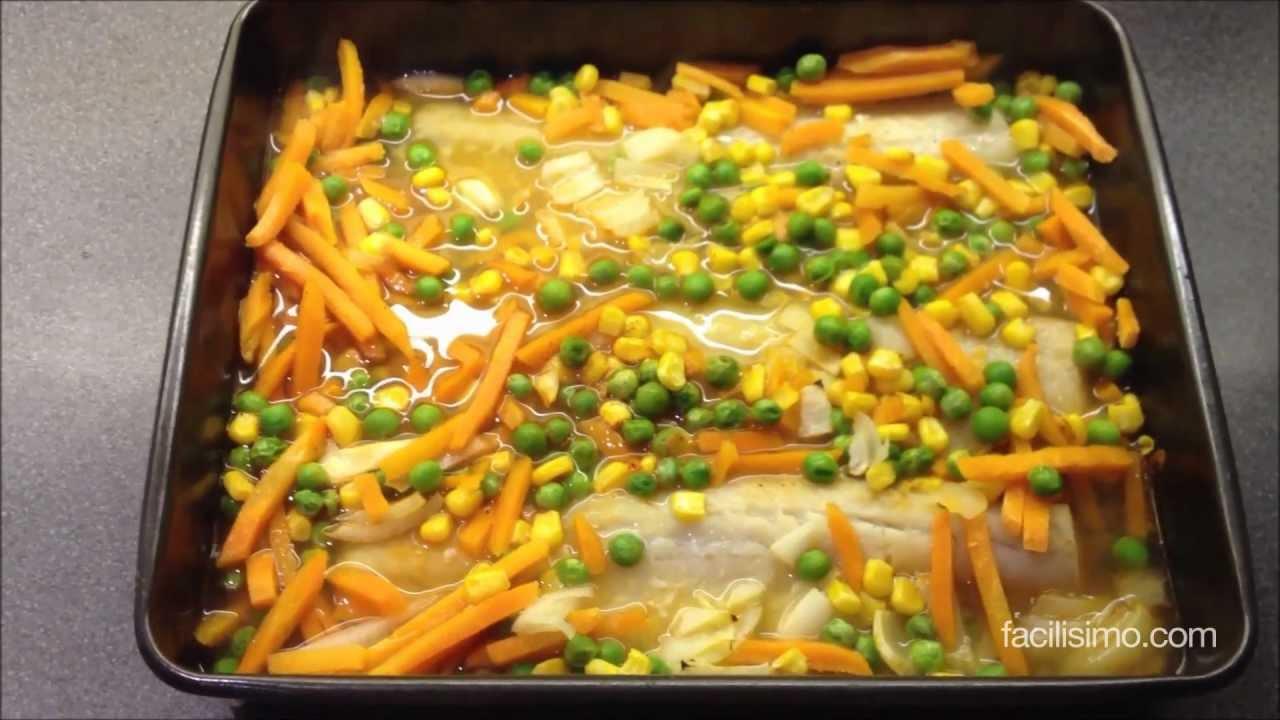C mo hacer pescado con verduras light - Como hacer verduras salteadas ...