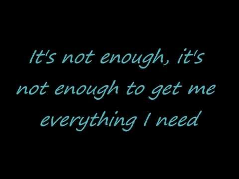 Avril Lavigne - Not Enough (with lyrics) HD