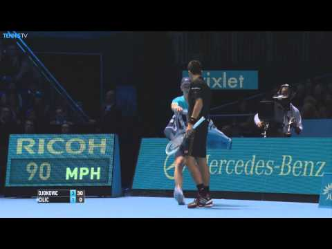 London Finale 2014 Monday Hot Shot Djokovic