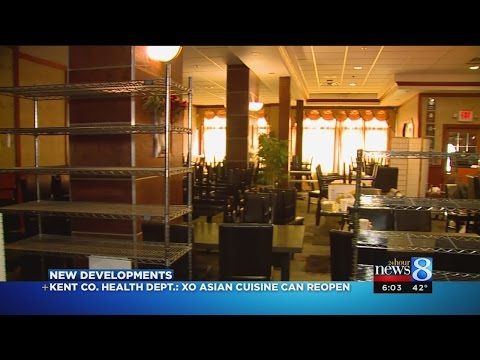 Kent Co. Health Dept.: XO Asian Cuisine Can Reopen