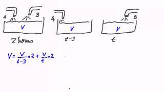 Problema de grifos. Planteamiento de ecuaciones. Ecuaciones de 1º grado