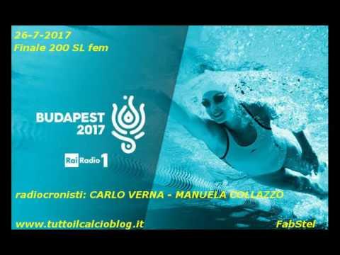 Budapest 2017 alla radio: FEDERICA PELLEGRINI ORO 200 stile libero