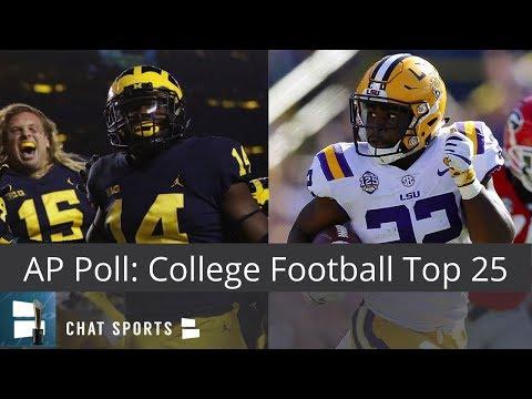 AP Poll: College Football Top 25 Rankings For Week 8