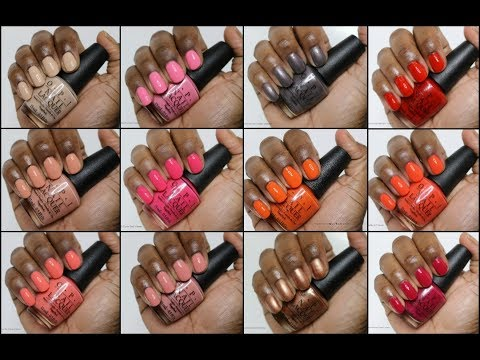 opi california dreaming swatches woc youtube