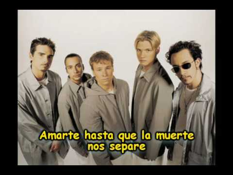 Backstreet boys - I promise you (spanish)