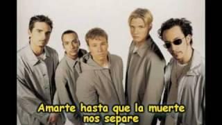 Backstreet boys - I promise you (spanish)