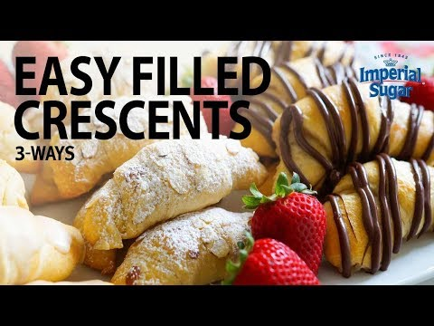 Almond Crescents, Chocolate Strawberry Crescents & Vanilla Bean Crescents